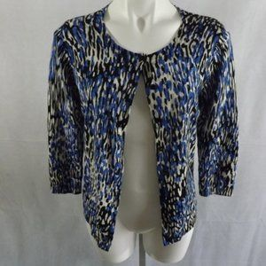 Womens TALBOTS Cardigan Sweater - Blue/black - MED